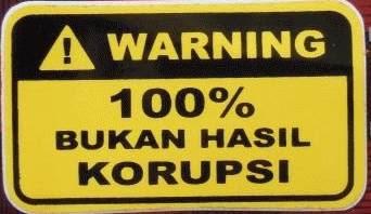 Stiker Unik dan Lucu pada Motor Tema Bukan Hasil Korupsi