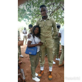"So Funny:- ""When Goliath Finally Meets David"" – Media React To Photo Of These Corpers (Add Yours)"