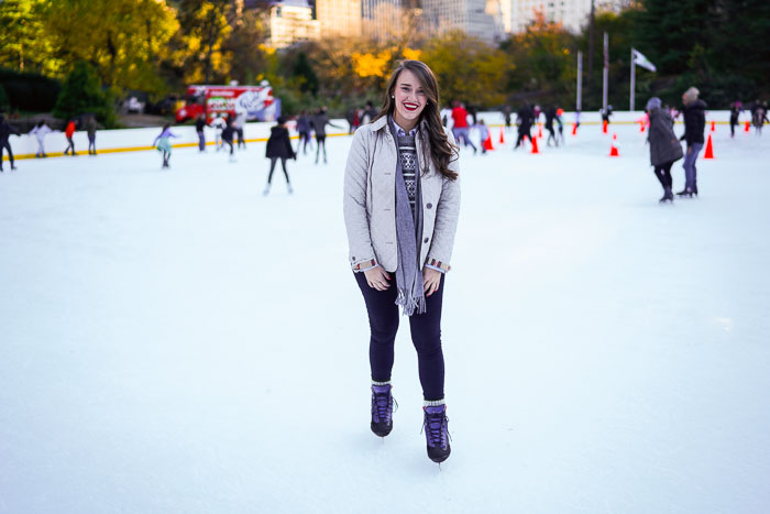 Ice Skating In Central Park Nyc Christmas New York City Fashion And Lifestyle Blog Covering The Bases