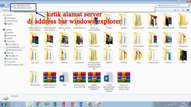 Address bar windows explorer