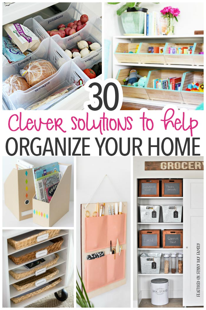 Organize your entire house with these awesome tips, hacks and DIY storage projects! Whether you need to organize the kitchen, clean up the pantry, or declutter the kids' rooms, you will find the perfect solution to all your organizing problems here.