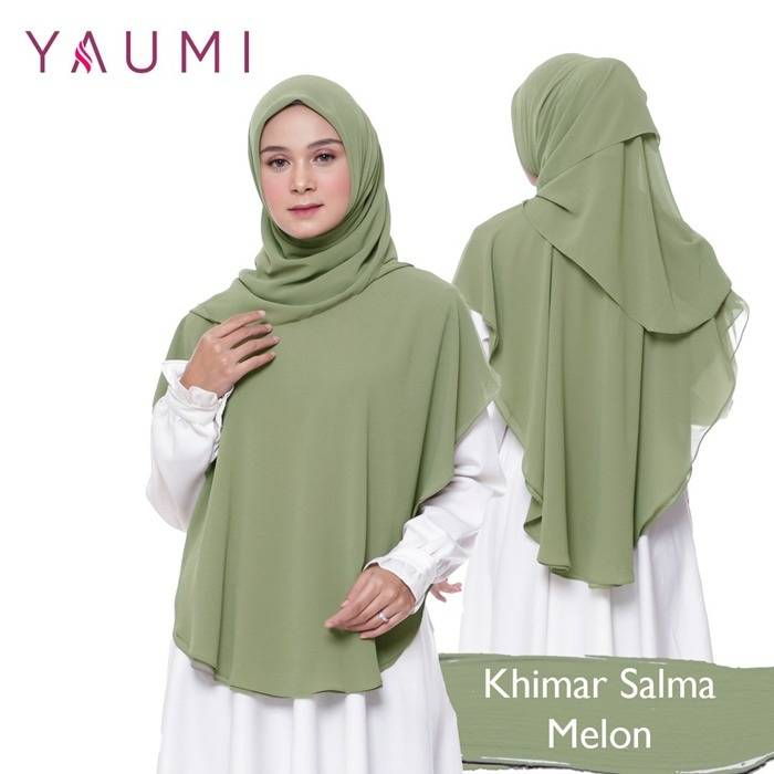 Yaumi Hijab Khimar Salma Melon