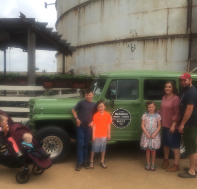 Josh and Anna Duggar at Magnolia Market Waco