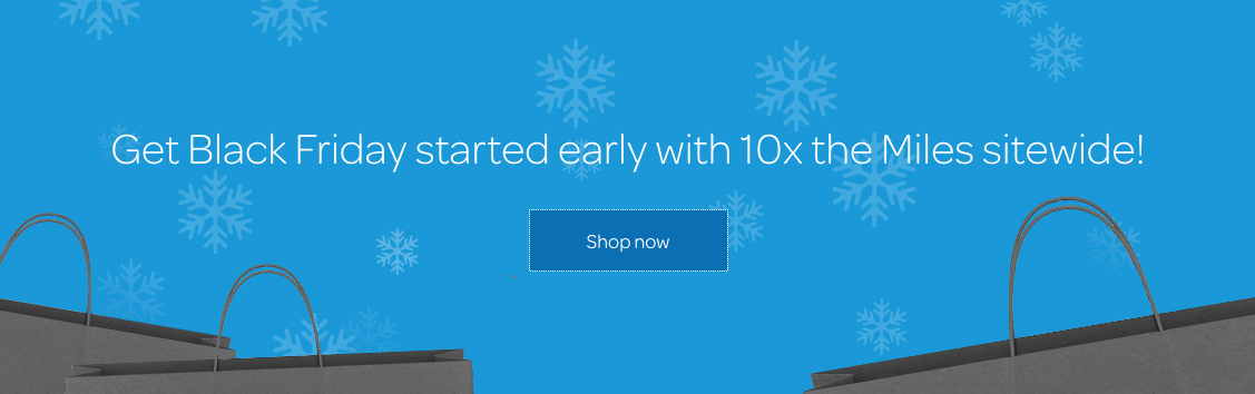 AIR MILES Shops pre-Black Friday offer: 10x miles sitewide for shopping online