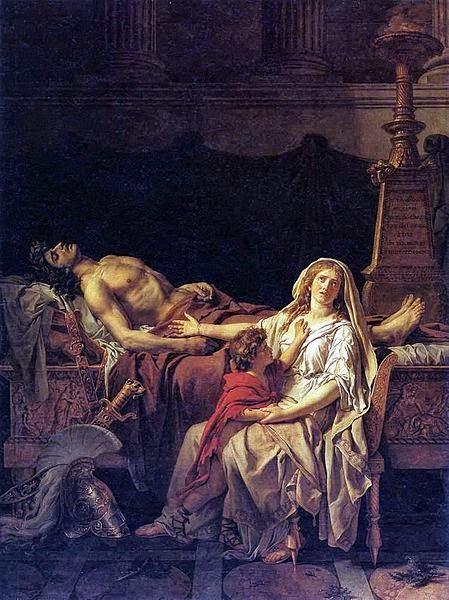 Andrômeda Lamentando - David, Jacques-Louis e suas principais pinturas ~ Representante do neoclassicismo