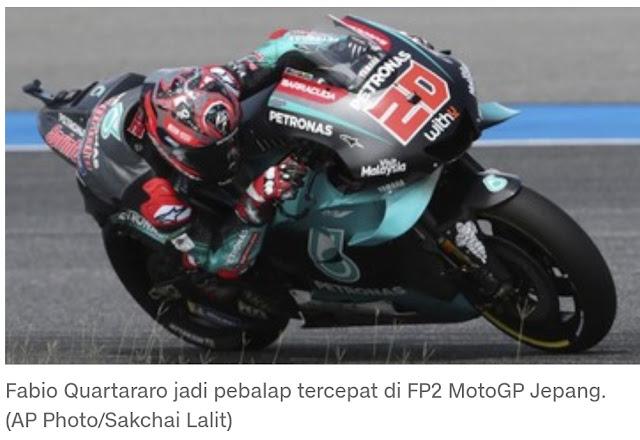 MotoGP Jepang 2019, Quartararo, Tercepat FP2, Rossi Ke 5