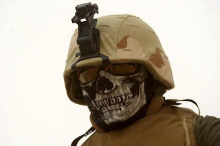 Iraqi Skull wearing soldiers