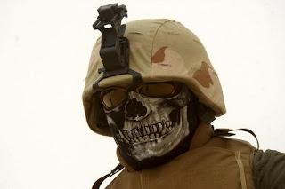 Iraqi Skull wearing soldiers