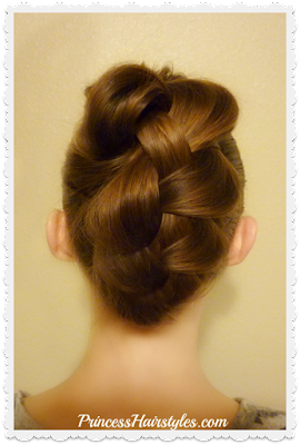 Easy way to create a braided #fauxhawk #updo