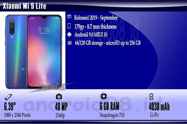Spesifikasi Xiaomi Mi 9 Lite
