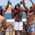 Usain Bolt is showered with champagne as he parties with friends on 31st birthday (video)