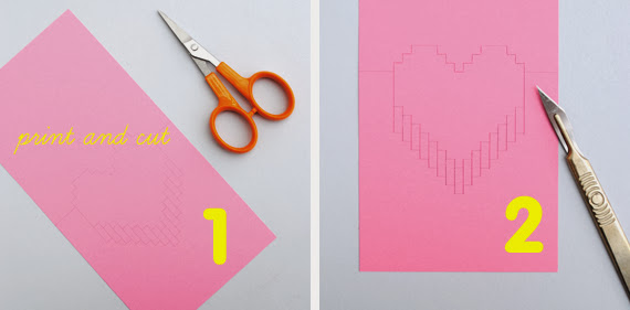 Diy Heart Pop Out Card