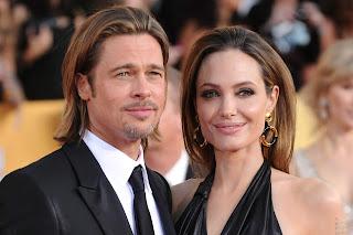 Actor Brad Pitt and Angelina Jolie