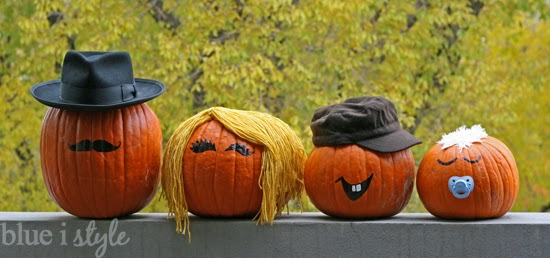 No carve pumpkin family