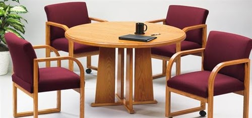 Contemporary Rounde Conference Table by Lesro