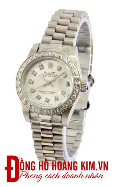 đồng hồ rolex nữ chính hãng dây sắt