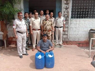 अबैध शराब सहित एक आरोपी गिरफ्तार , 55 लीटर शराब जप्त | BAIRAD NEWS