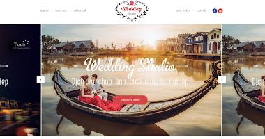 Thiết kế website wedding studio ảnh cưới giá rẻ