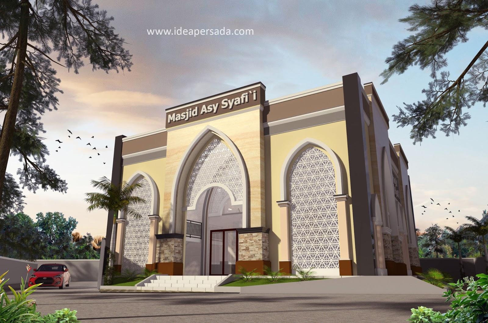 Idea Persada Arsitektur Desain Desain Masjid Asy Syafi I Riau