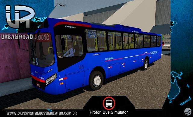 Skin Proton Bus Simulator - Caio Apache VIP IV MB N.S.Penha