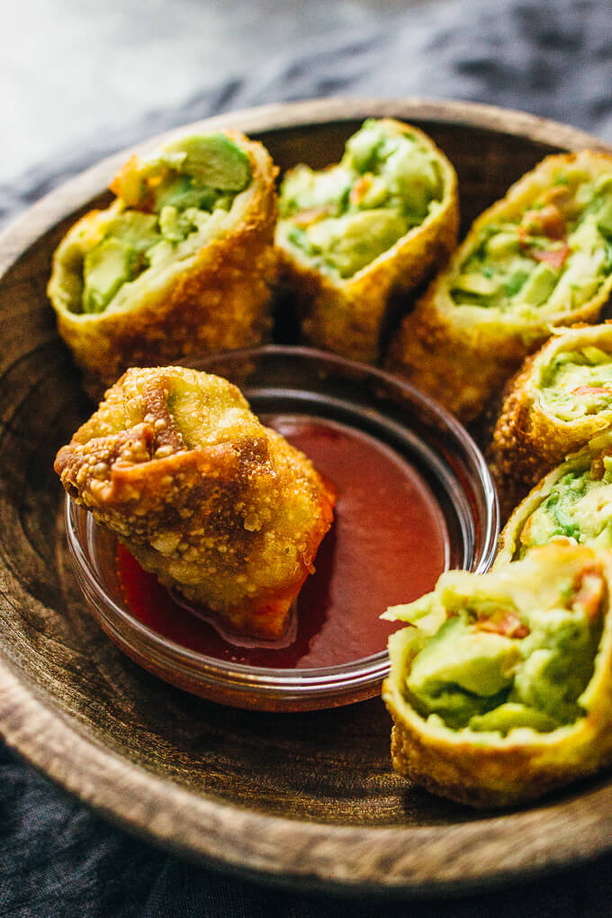 AVOCADO EGG ROLLS WITH SWEET CHILI SAUCE #eggroll #avocado #diet #keto #paleo