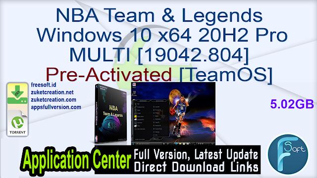 NBA Team & Legends Windows 10 x64 20H2 Pro MULTI [19042.804] Pre-Activated [TeamOS]