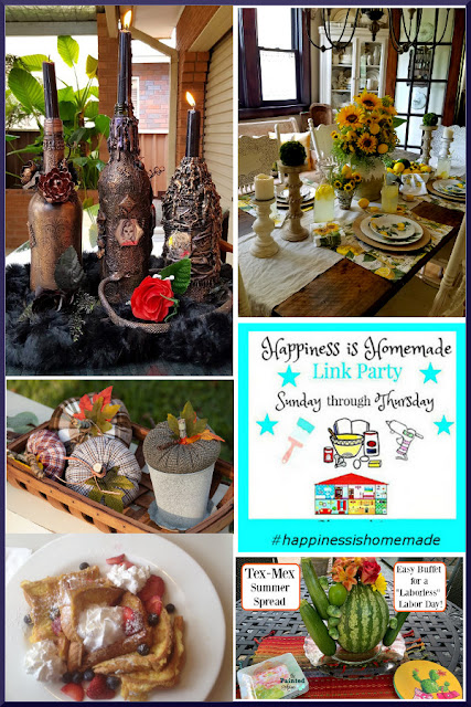 Happiness is Homemade Link Party 284. Share NOW DIY, crafts, home decor, recipes with bloggers and readers. Sunday ~ Thursday. 9 hostesses. 5 features. #linkparty #linkparties #happinessishomemadelinkparty #eclecticredbarn