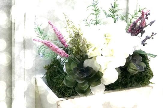 Repurposed Cabinet Door Flower Box