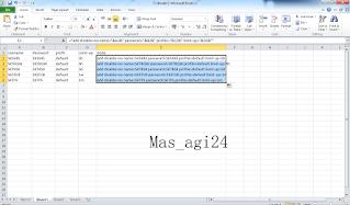 Cara Membuat Voucer Wifi Masal Dengan Microsoft Excel di Mikrotik
