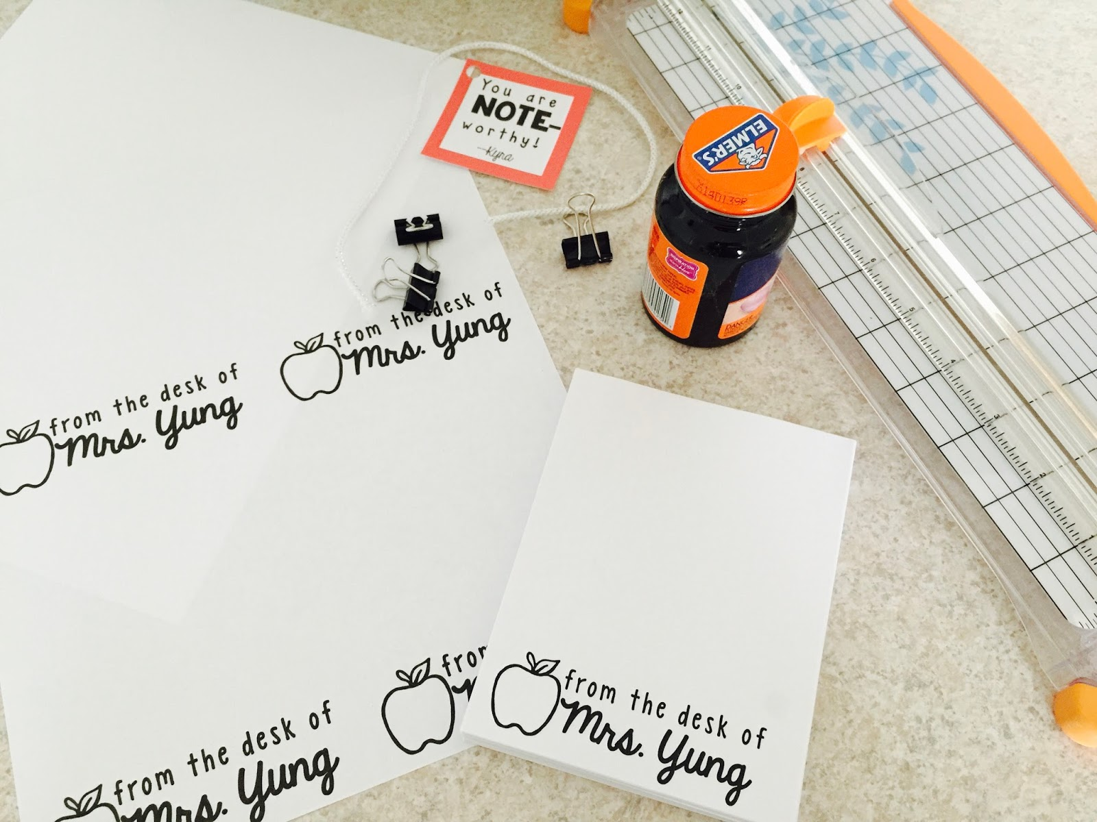 DIY Personalized Notepads - The Yung Life