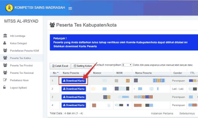 Cara Download dan Cetak Kartu Peserta KSM Terbaru