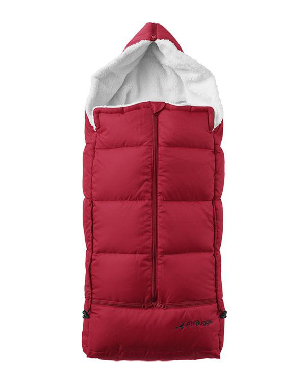 down stroller sleeping bag red