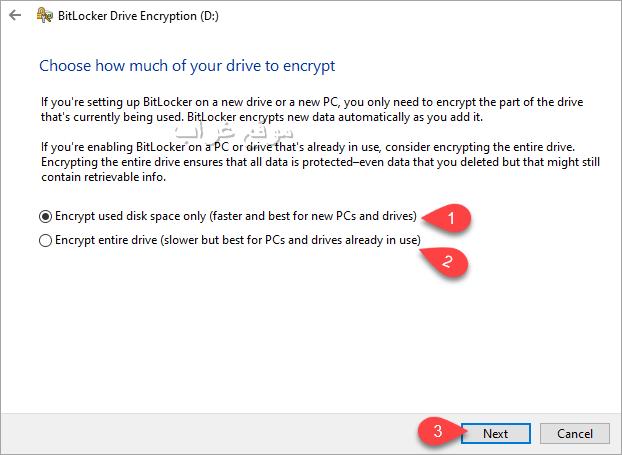 Encrypt drive method