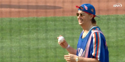 Rock God Julian Casablancas Throws Opening Pitch For His Favorite Athletic Team, The Mets!