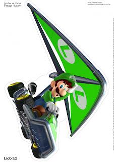 Super Mario Bros: Centro de Mesa para Imprimir Gratis.