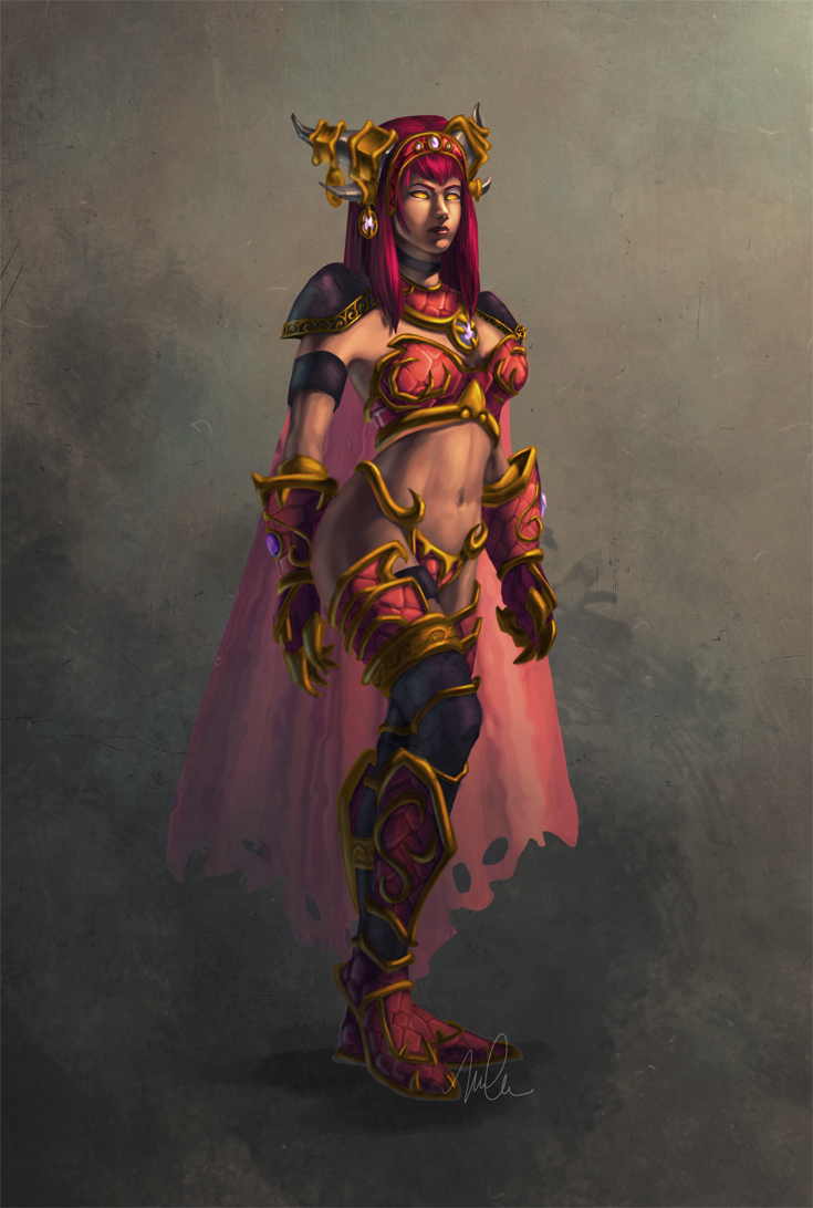 for world of warcraft alexstrasza the life binder in her humanoid formAlexstrasza Human Form