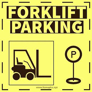 forklift parking area sign & symbol