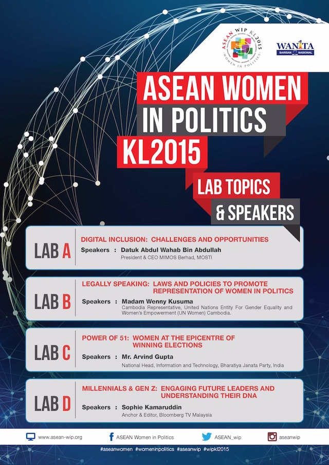 Some of the prominent speakers this coming WIPKL2015