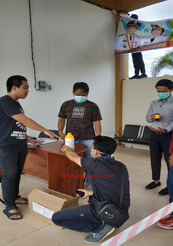 Mitra Peternakan Sumbangkan 20 Botol Disinfektan dan 30 Baju APD Ke Posko Covid Pulang Pisau