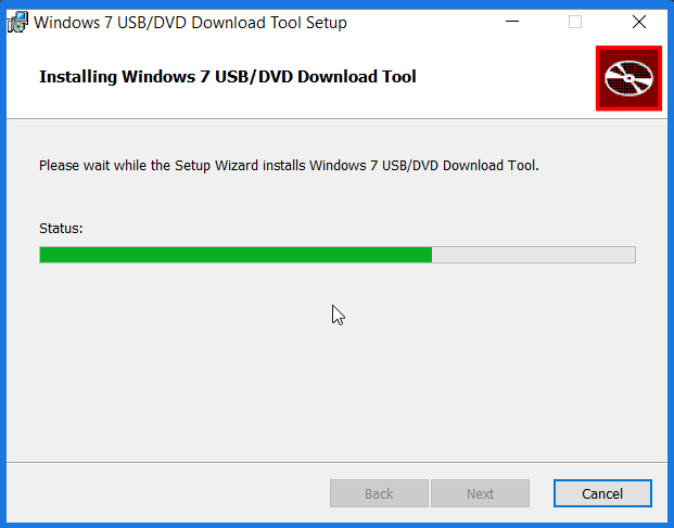 Windows USB DVD Download Tool