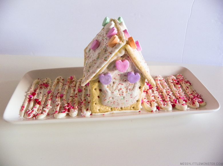 homemade Valentine pop tart house