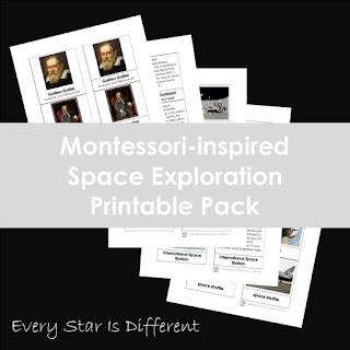 Montessori-inspired Space Exploration Printable Pack