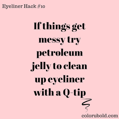 Eyeliner hack use petroleum jelly to clean up eyeliner mistakes