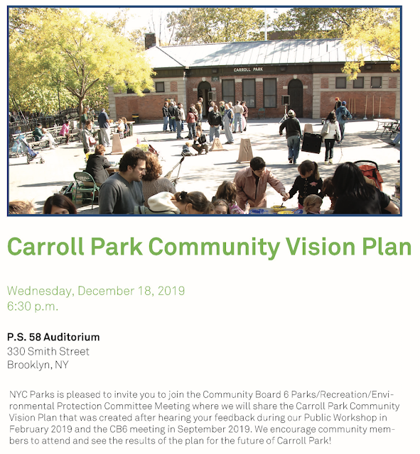 Important Meeting On Carroll Park Community Vision Plan This Coming Wednesday
