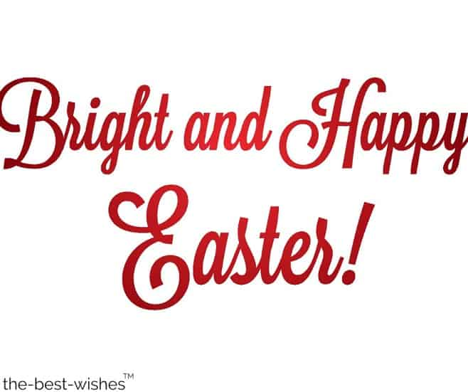 bright and happy easter