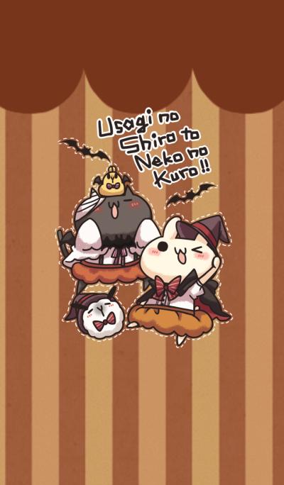 Shiro the rabbit kuro the cat Halloween