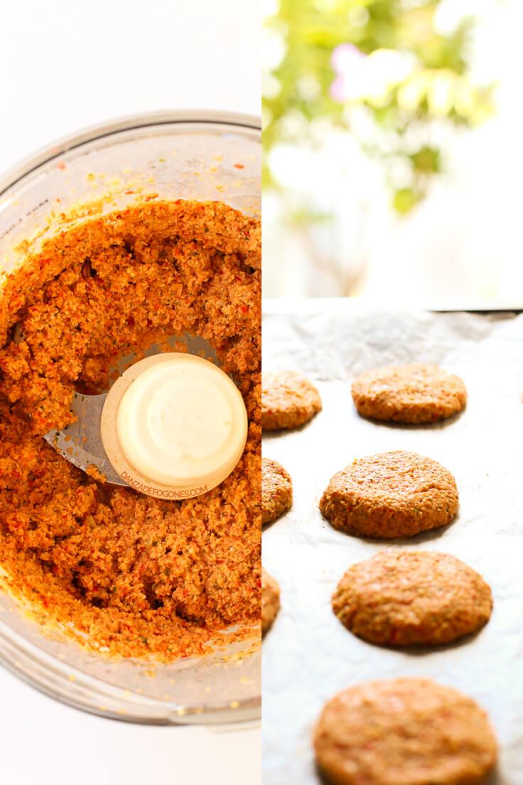 How To Make Baked Falafel   danceofstoves.com #vegan