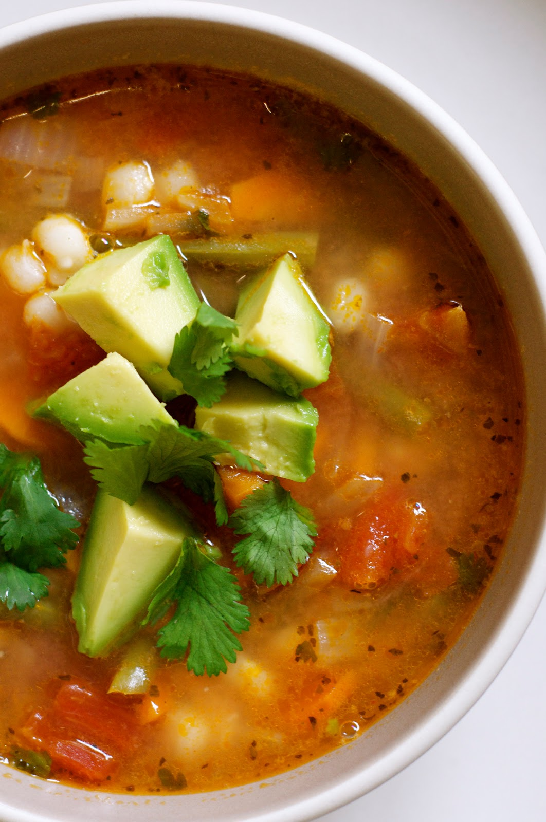 on the menu: mexican vegetable soup with lime and avocado - Sacramento Street