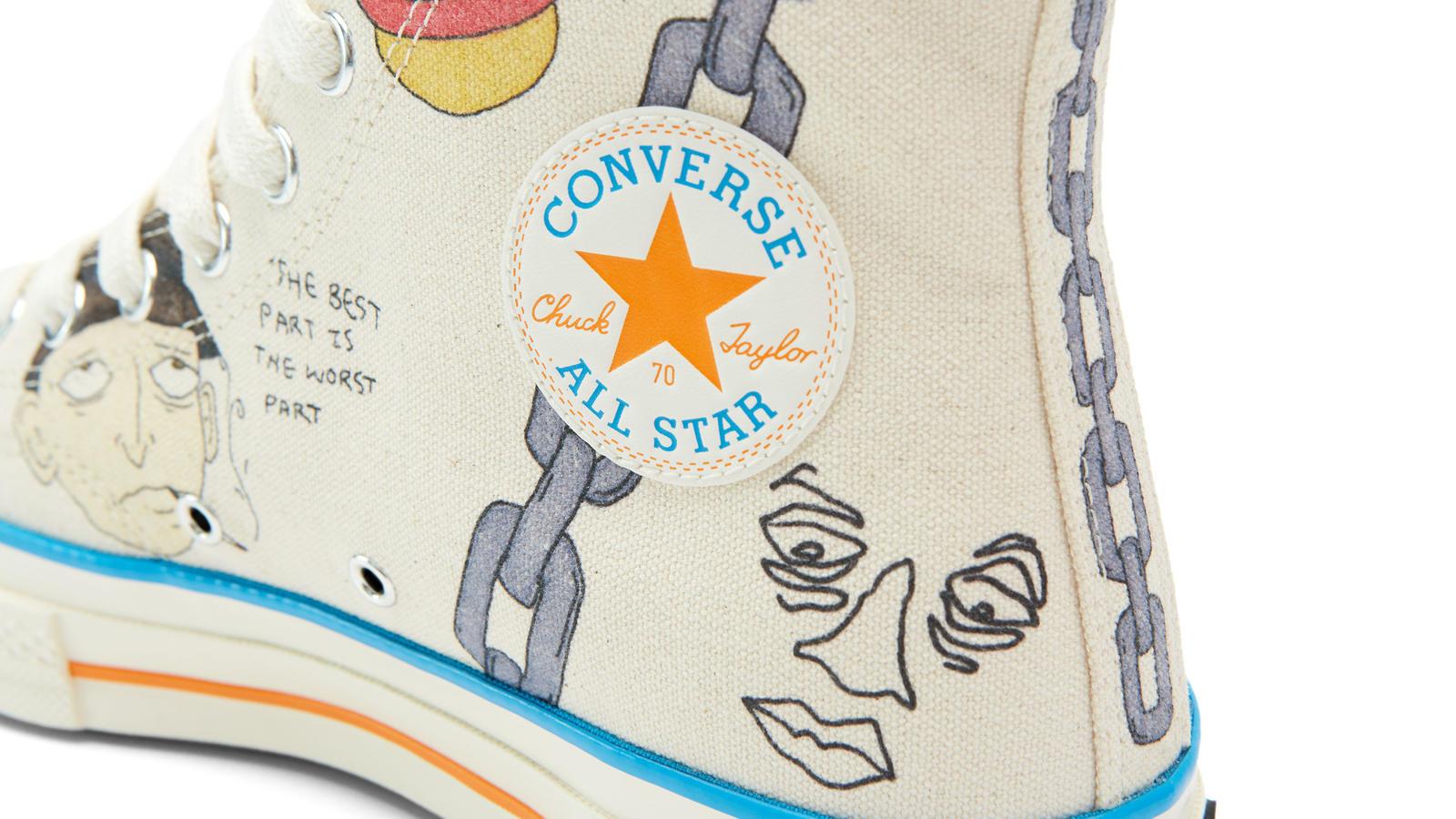 0945bc3d2ed Wyatt s doodles on the Converse Chuck 70 form a dreamy