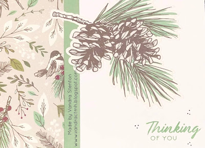 #CTMHVandra, #ctmhSprucedUp, Birds, pine, thinking of you, cardmaking, Colour of the Year, Julep, trees, leaves, robin, Colour Dare Challenge, color dare, winter,